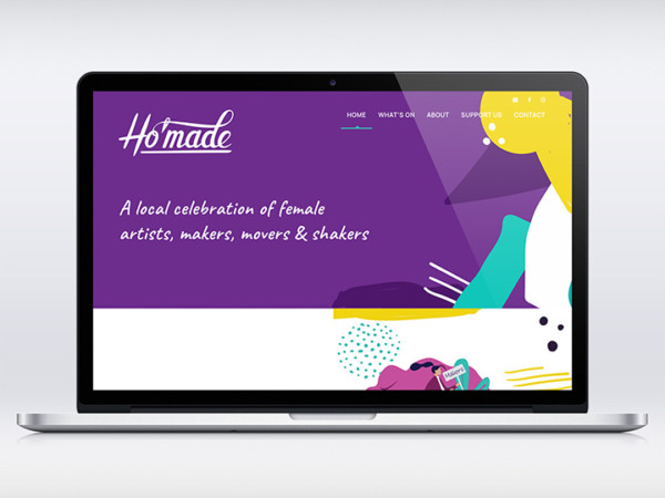 Website for Art Cooperative Ho'made